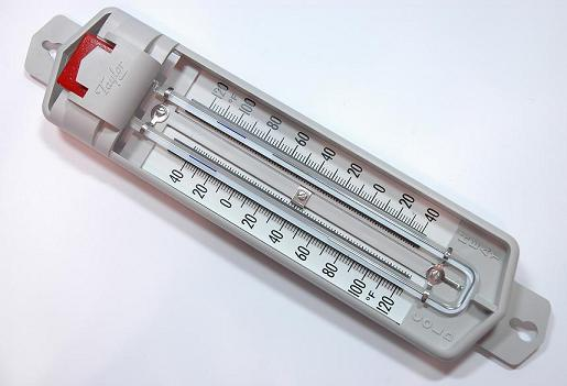 Thermometer maximum and minimum 866 sixs dual scale thermometer spirit